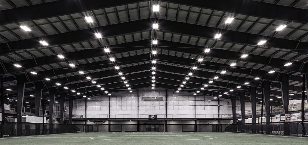 Steel building used for indoor sports complex